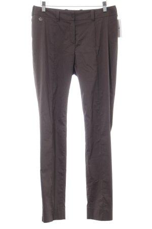 Anja Gockel Stoffen broek grijs-bruin casual uitstraling