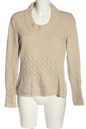 Anja Gockel Pull en laine brun style décontracté