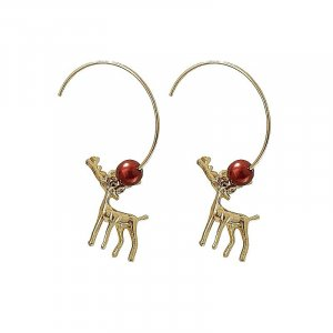 ANKE Accessoires Art Dangle gold-colored-carmine metal