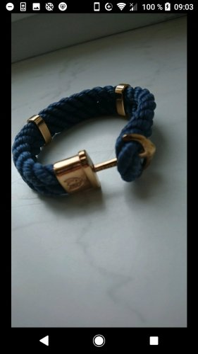 Bracelet gold-colored-dark blue