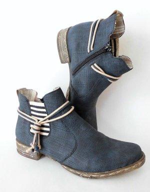 Rieker Botas de tobillo azul oscuro-beige claro