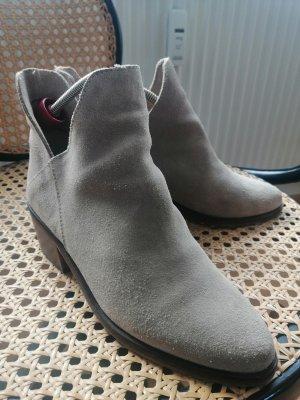 Zara Ankle Boots beige-oatmeal leather