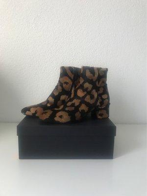 AGL Stivaletto con zip nero-color cammello
