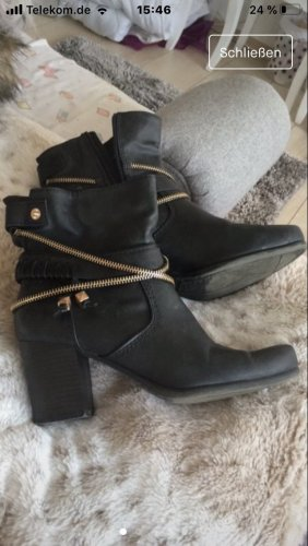 Marco Tozzi Ankle Boots black-gold-colored