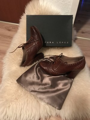 Pura Lopez Ankle Boots cognac-coloured-bronze-colored