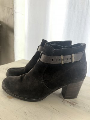 Paul Green Ankle Boots dark brown suede