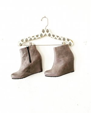 ankle  boots • cox • grau • echtleder