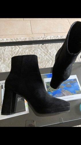 H&M Enkellaarzen zwart-goud