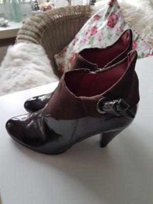 La Strada Botas de tobillo marrón-marrón oscuro