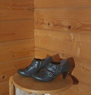 Ankle Boots grau Lederoptik