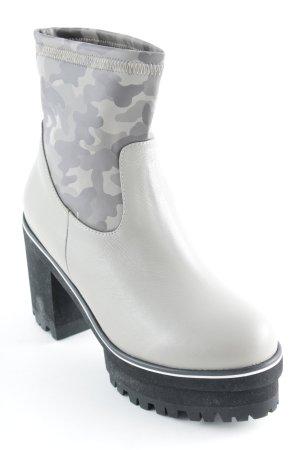 Ankle Boots hellbeige-grüngrau Camouflagemuster Casual-Look