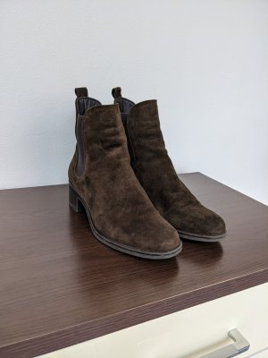 Ankle Boots in Olivegrün