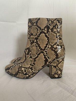 Ankle Boots in Schlangenleder-Optik