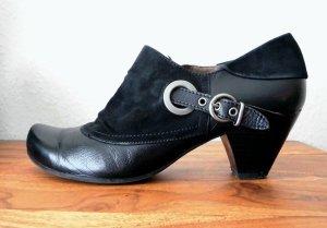 Ankle Boots Leder Gr. 40 (UK 6,5) Hochfront