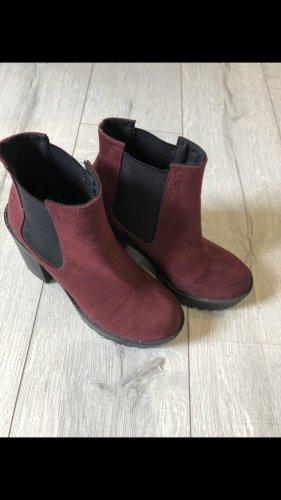 H&M Divided Low boot noir-bordeau