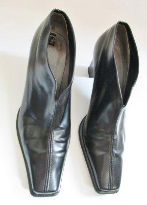 Ankle Boots Peter Kaiser Größe 4 36 37 Schwarz Glatt eckig Spitz Hochfront Pumps Schuhe V-Neck Daisy Edel Glanz