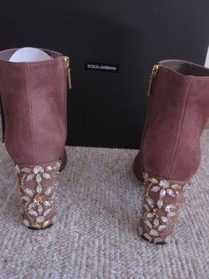 Ankle Boots Vally aus Veloursleder Dolce Gabbana