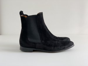 Ankle Boots Wildleder schwarz Gr 37 1/2 Made in Italy