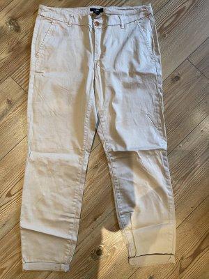 H&M Pantalon 7/8 beige clair coton