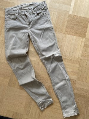 Zara Jeans slim gris brun