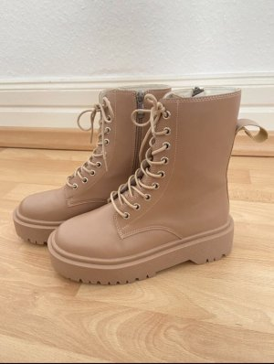 Ankleboots Boots Chunky Plateau 37 Beige