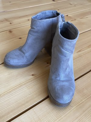 Ankleboots Pull & Bear beige
