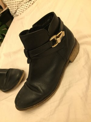 Cox Ankle Boots black-gold-colored