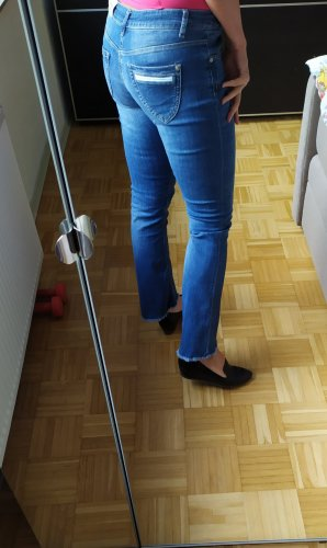 Blue Fire Jeans a 7/8 blu-blu acciaio Tessuto misto