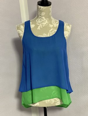 Anmol Sleeveless Blouse neon blue-neon green