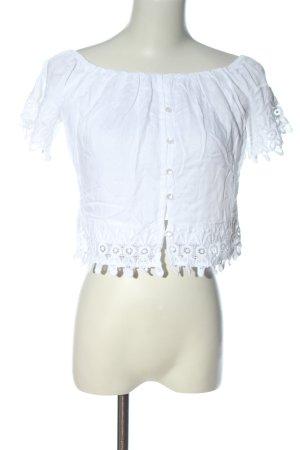 Anmol Carmen blouse wit casual uitstraling