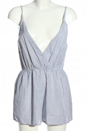 Anmol Jumpsuit white-light grey striped pattern casual look