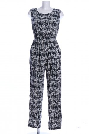 Anmol Jumpsuit black-white allover print casual look