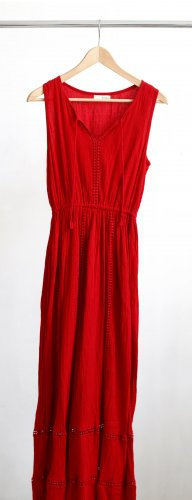 Anmol Maxi Dress red cotton