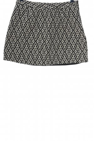 Anmol Miniskirt black-white allover print casual look