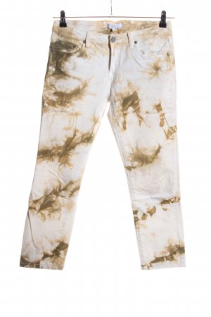 Ann Christine 7/8 Length Trousers white-brown abstract pattern casual look