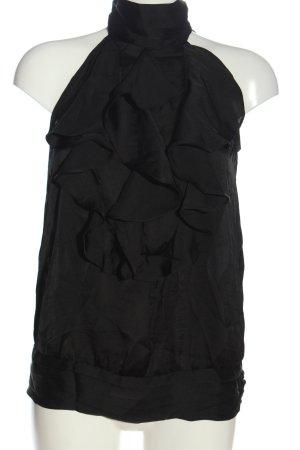 Ann Christine ärmellose Bluse schwarz Elegant
