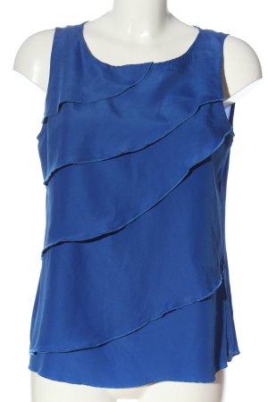 Ann Christine ärmellose Bluse blau Business-Look
