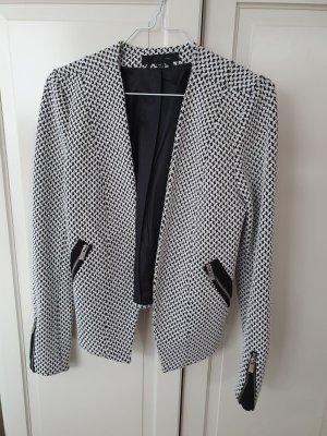 Ann Christine Klassischer Blazer black-white mixture fibre