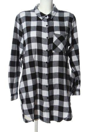 Ann Christine Flannel Shirt black-white allover print casual look