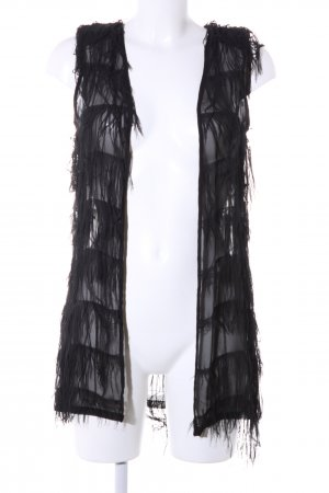 Ann Christine Fringed Vest black elegant
