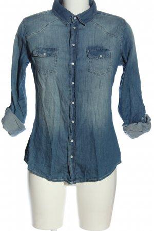 Ann Christine Jeans blouse blauw casual uitstraling