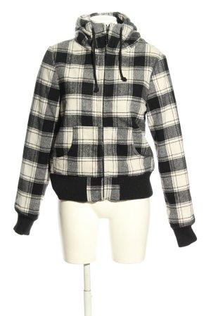 Ann Christine Hoody black-white check pattern casual look