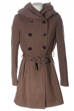 Ann Christine Hooded Coat brown casual look