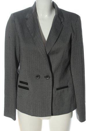 Ann Christine Korte blazer lichtgrijs-zwart zakelijke stijl