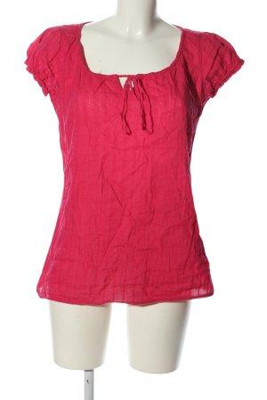 Ann Christine Kurzarm-Bluse rot Casual-Look