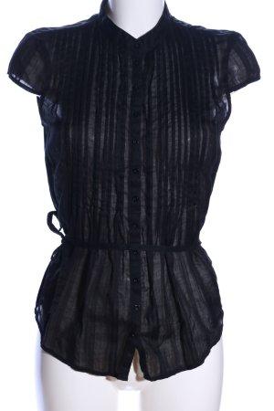Ann Christine Blouse à manches courtes noir motif rayé style d'affaires