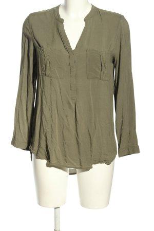 Ann Christine Long Sleeve Blouse khaki casual look