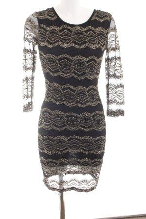 Ann Christine Jurk met lange mouwen zwart abstract patroon zakelijke stijl
