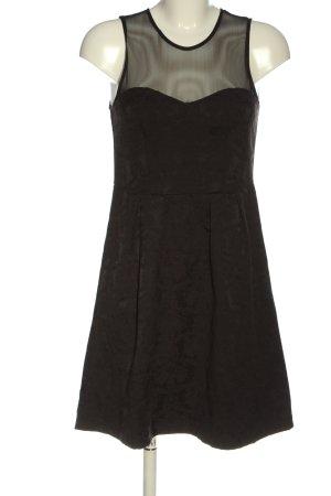 Ann Christine Mini Dress black abstract pattern elegant