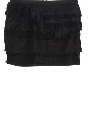 Ann Christine Mini-jupe noir style décontracté